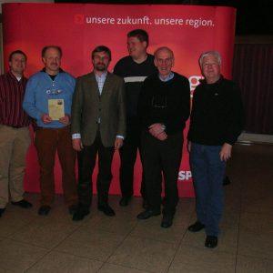 Auf dem Bild vlnr Andreas Schaake, Dieter Schaake Jürgen Wilden, Sascha Wittekind, Dipl. Ing. Ernst Träbing, Wilfried Dietzel