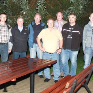 Das Bild zeigt Teile der Fraktion beim Termin am Sportpark in Affoldern. Es fehlt Kurt Sunkovski.