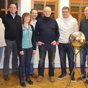 vlnr. Jutta Schlömer, Thomas Lubbe, Bianca Dietz, Andreas Schaake, Dieter Schaake, Hannes Dietzel, Karlheinz Ludwig
