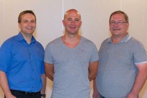 vlnr. Andreas Schaake, Marco Mörschler, Ralf Bender