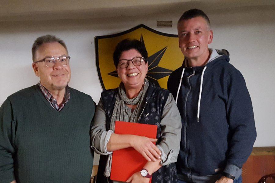 Bild v.l.n.r. Karl Heinrich Neuschäfer, Angelika Münch, Uwe Ulrich