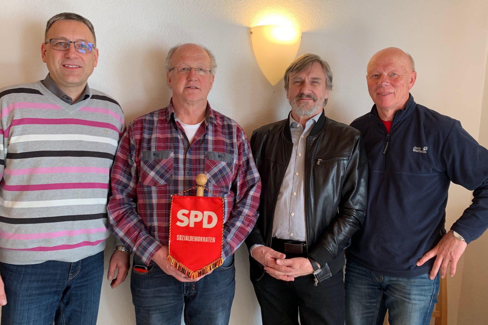 vlnr Thomas Lubbe, Dieter Schaake, Jürgen Wilden, Karlheinz Ludwig